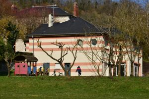 Giverny, France - february 29 2016 : the village school